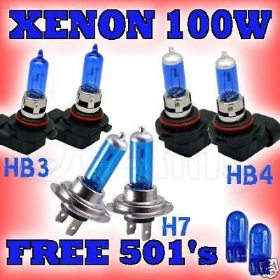 BMW 5 Series 520 etc 96-01 XENON BULBS 100W HB3 HB4 H7