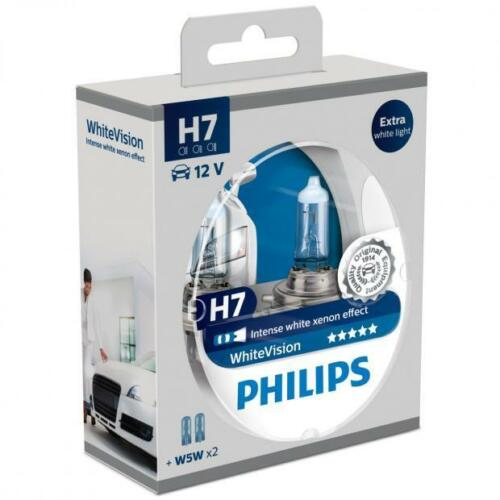 W5W sidelight ampoules Twin Philips H7 55 W WhiteVision ampoules phare voiture