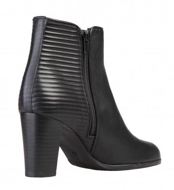 Nuevo  versace v1969 patricia negro cuero genuino botín talla talla botín 36 087e05