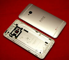 Original HTC One M7 Akkudeckel Gehäuse Backcover Battery Cover Housing Silver