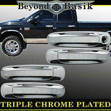 2005-2011 DODGE RAM DAKOTA Triple ABS Chrome Door Handle Cover W/O PSK