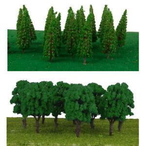 60pcs-1-100-scala-HO-Modello-verde-albero-micro-paesaggio-ferroviario-layout