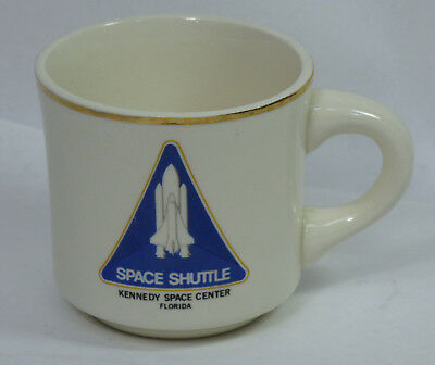 Dedicated Vintage Space Shuttle Kennedy Space Center Ceramic Coffee Mug Cup