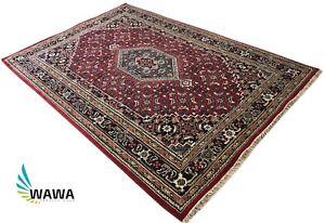 Tapis-D-039-Orient-Bidjar-200X300-cm-Noue-a-la-Main-Rouge-Tapis-100-Laine