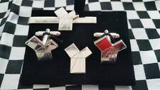 Euclid's 47th Proposition nickle Cufflink /Tieslide/ lapelpin set, Masonic craft