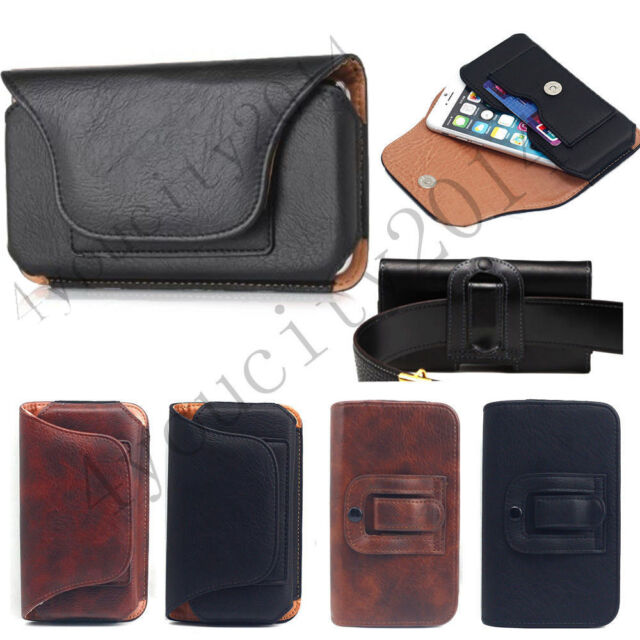 Men's Luxury Leather Wallet Carry Waist Belt Pouch Bag Card Holster Case Cover