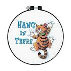 Delivery- Dimensions Stamped Cross Stitch Kit Hang in There