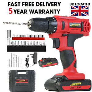 21V-Cordless-Drill-Driver-Combi-Recharge-Lithium-Ion-Screwdriver-LED-Worklight