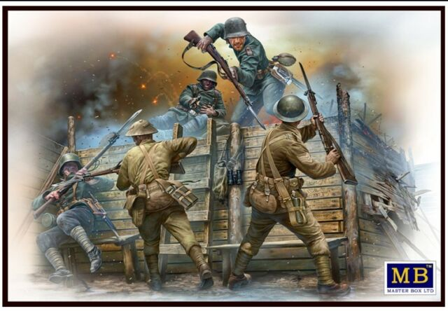 BRITISH & GERMAN INFANTRYMEN HAND TO HAND FIGHT WWI ERA 1/35 MASTER BOX 35116