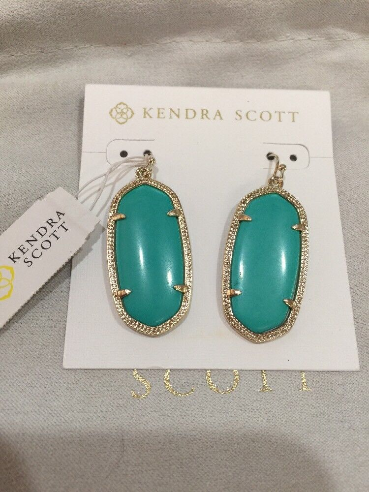 Kendra Scott Elle Teal Earrings Dangle NWT