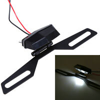 Dirt Bike Rear Mini Led License Plate White Light Lamp+bracket Holder Motorcycle
