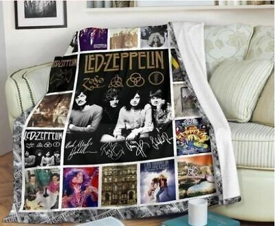 Led Zeppelin 4 Symbols Super Soft And Cuddly Fleece Plush Throw Blanket