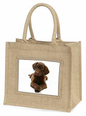 Schoko Labrador Welpen Hund Große Natürliche Jute-einkaufstasche Weihnachten,