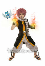 New Anime Fairy Tail Natsu Dragneel Halloween Cosplay Party Costume Free Ship