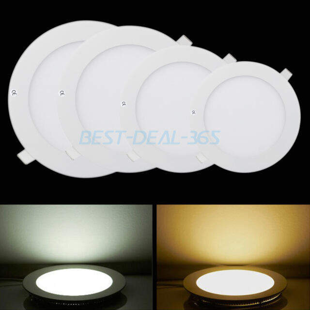 Dimmable Led Recessed Downlight Ceiling Panel Light Flat Room Wall Lamp + Driver