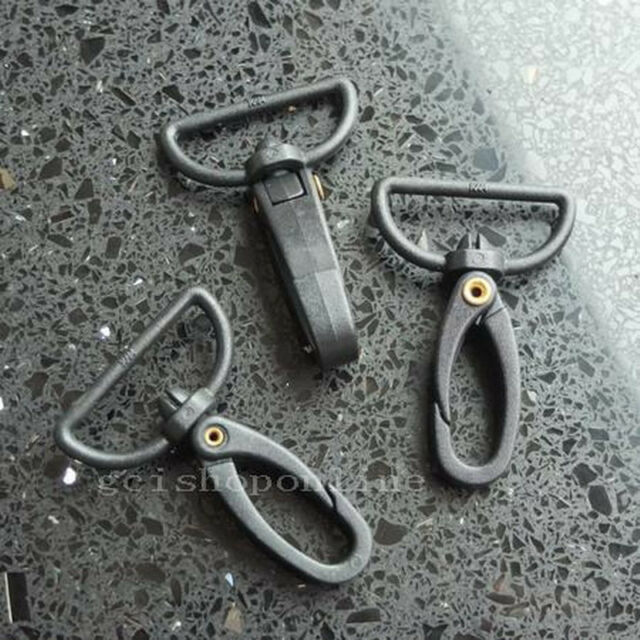"""12 25 50 100 Choice Plastic SWIVEL CLIP SNAP TRIGGER Lobster Clasp SCPP 1"""" 25mm"""