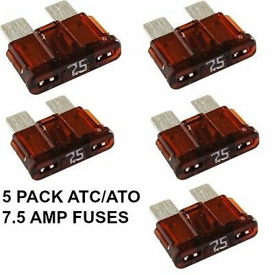 7.5 Amp Brown ATC//ATO Fuses pack of 25