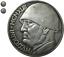 Moneta-collezione-20-Lire-Italia-1943-Fascismo-Mussolini-replica-LEONE-littorio