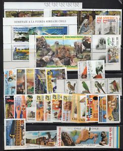 CHILE-2001-COMPLETE-YEAR-MNH-STAMPS