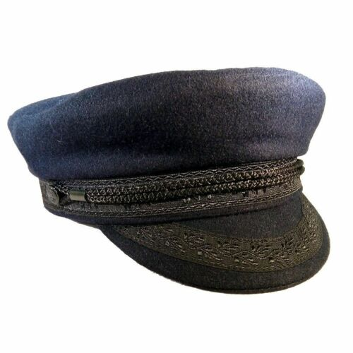7 5//8 Regno Unito 7 1//2 Guy Cotten Breton Blu Navy Lana CAP-TAGLIA 61cm US