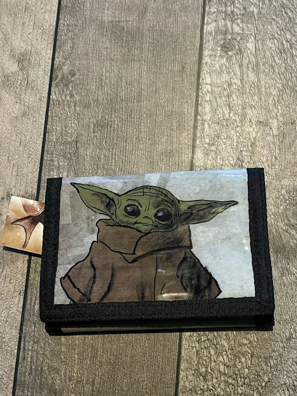 The Mandalorian The Child Baby Yoda Card and Coin Tri-Fold Wallet