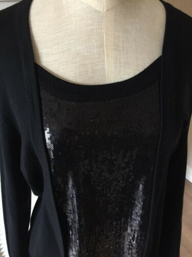 Large Panel Sequin Planet Jumper Bnwt Black Size xwYp8S1q