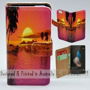 For-Huawei-Series-Summer-Sunset-Theme-Print-Wallet-Mobile-Phone-Case-Cover