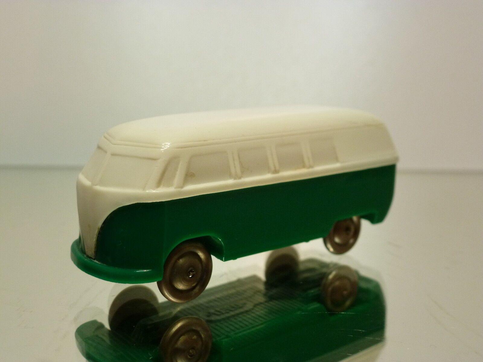 LEGO VW VOLSWAGEN T1 BUS UNVERGLASST - GREEN WHITE L6.0cm  EXTREMELY RARE