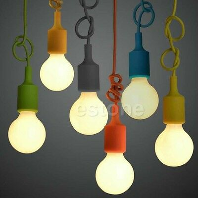Fashion Silicone E27 Home Ceiling Pendant Lamp Light Bulb Holder Hanging Fixture