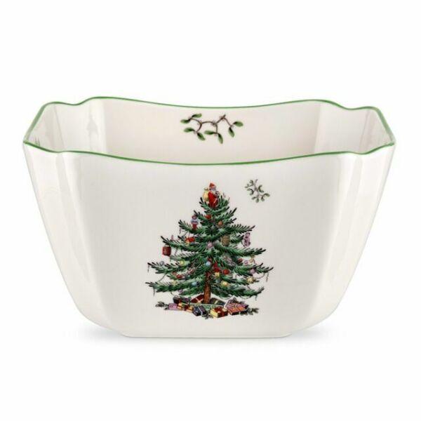 "Spode England Christmas Tree Small Square Bowl 6.75"" for sale online   eBay"