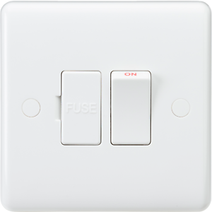 White Curved Edge Wiring Accessories 13a Switched Fused Spur Flex Outlet At Base 5055832972921 Ebay