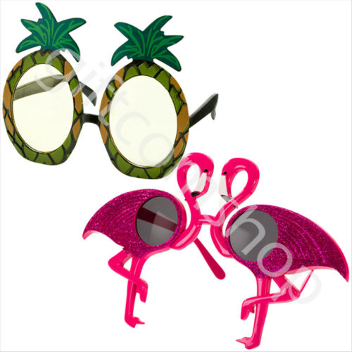 Retro Novelty Party Sunglasses Hawaiian Tropical Fancy Dress Accessories Glasses