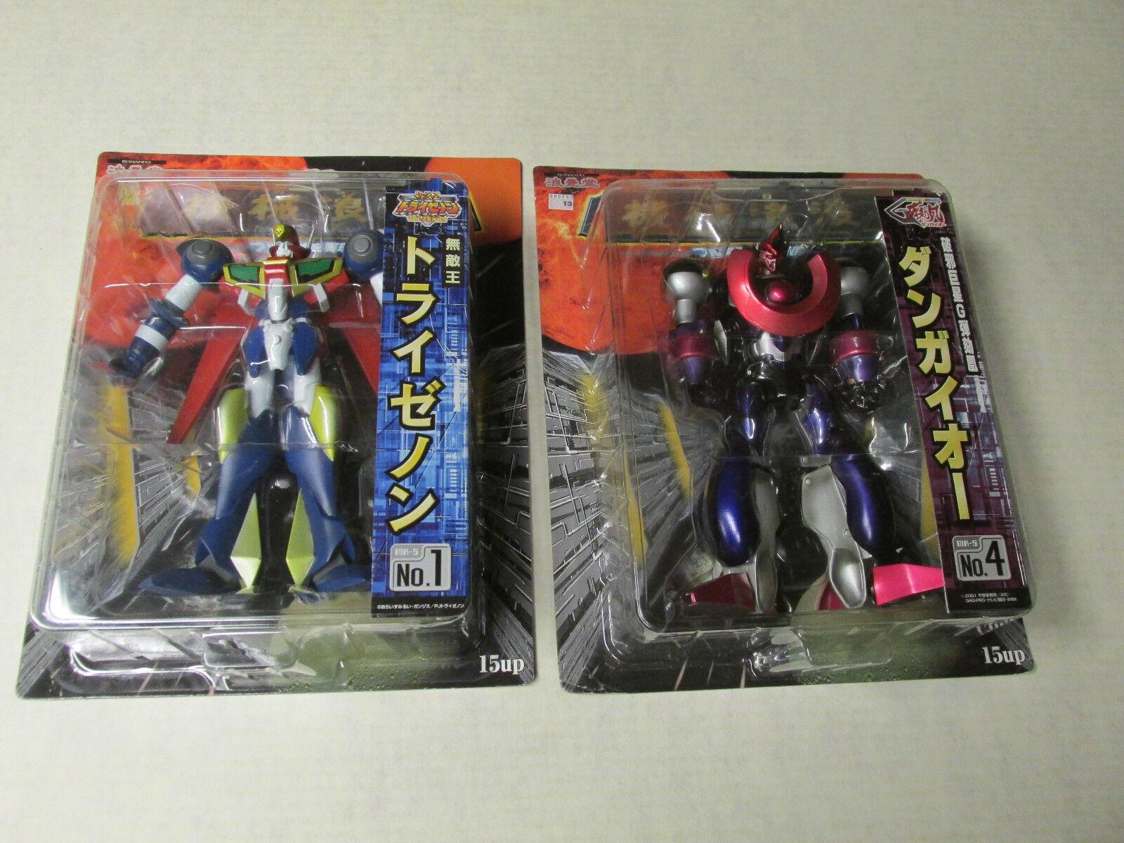 Invincible King Tri-Zenon-Muteki-O torai Zeno Robo Hyper Combat Dangaioh Set MIB