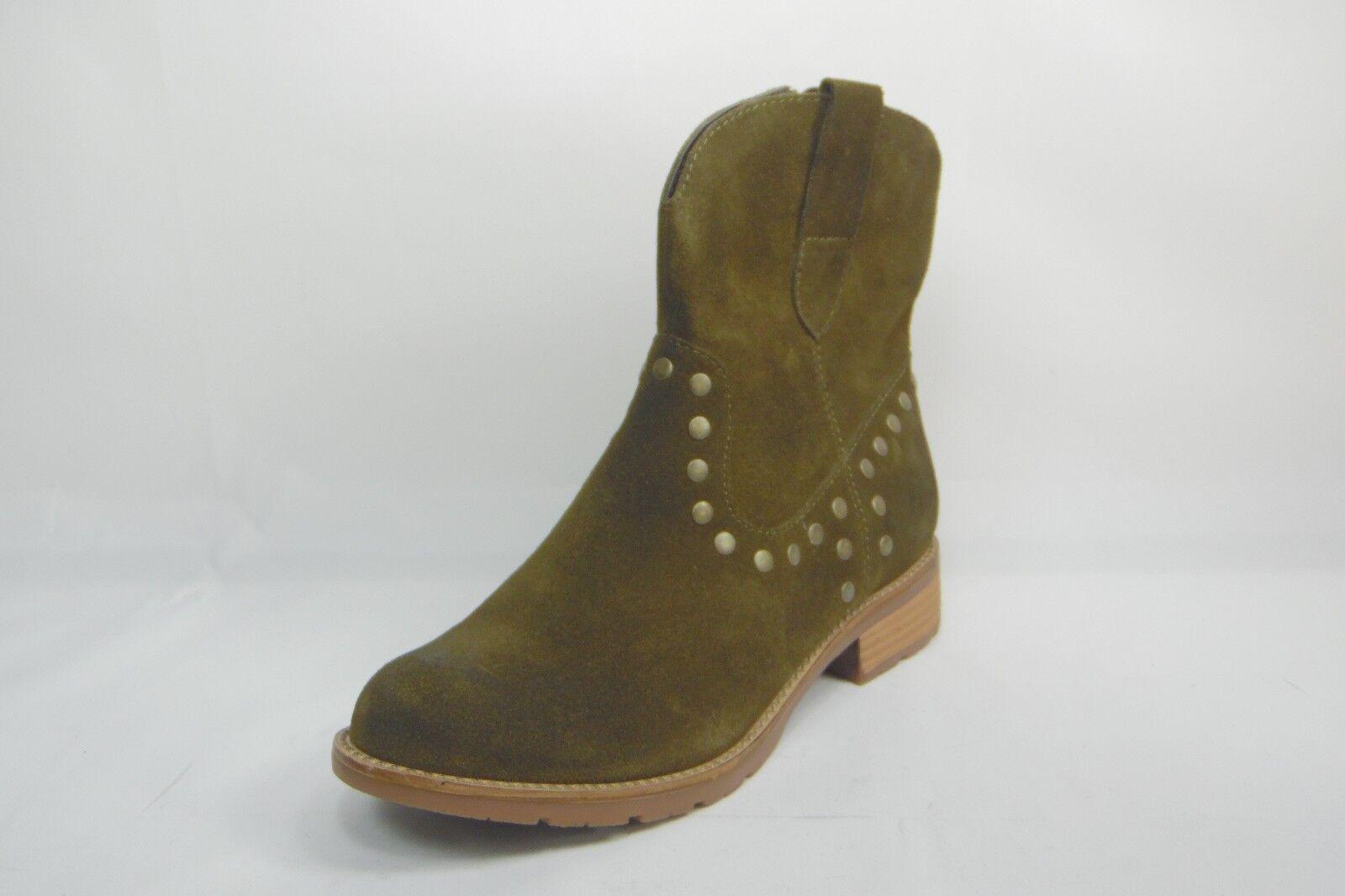 Eurosoft By Sofft Suede Leder Western Ankle Stiefel Low Heels Zip Green Größe 6M