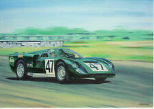 Healey Climax SR 1968 Silverstone Le Mans Du Mans  art card not  Austin Healey