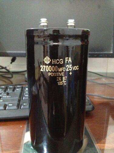 1PCS HITACHI 25V 270000UF Super Capacitor Car Kit Capacitor 75X145 105℃ #E234 YX