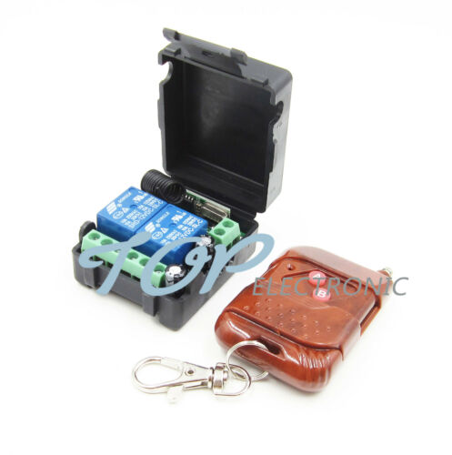 Receiver car DC 12v 10A relay 2CH wireless RF Remote Control Switch Transmitter