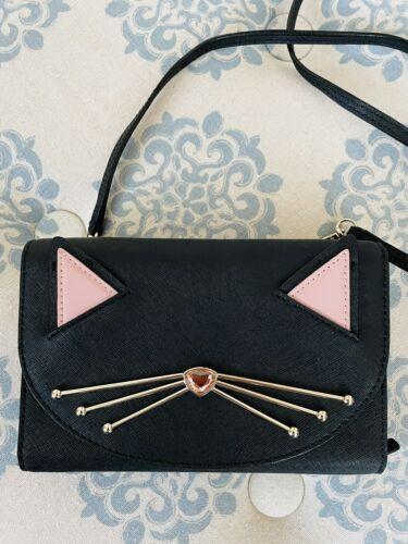 Kate Spade Jazz Things Up Cat Crossbody Wallet Clu