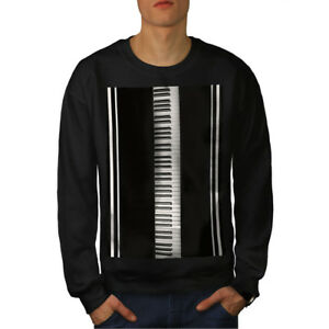 Piano Keys Keyboard Music Men Sweatshirt NEW | Wellcoda