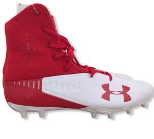 Men-039-s-Under-Armour-Highlight-Select-MC-Red-600-White-Football-Cleats-Size-13