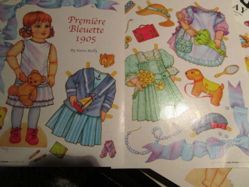 Vtg Karen Reilly PREMIERE BLEUETTE c. 1905 Magazine Paper Doll UNCUT