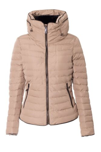 New Ladies Womens Quilted Padded Puffer Fur Collar warm Thick Zip Up Jacket Coat