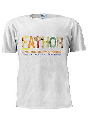 Bescheiden Fathor Tshirt Fa-thor Dad Trendy Fathers Day Men Women Unisex T Shirt M275