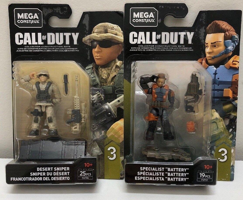 Mega - construx call of duty w  ste ste ste scharfsch  tzen und batterie fvf97 & fvf96 0c9925