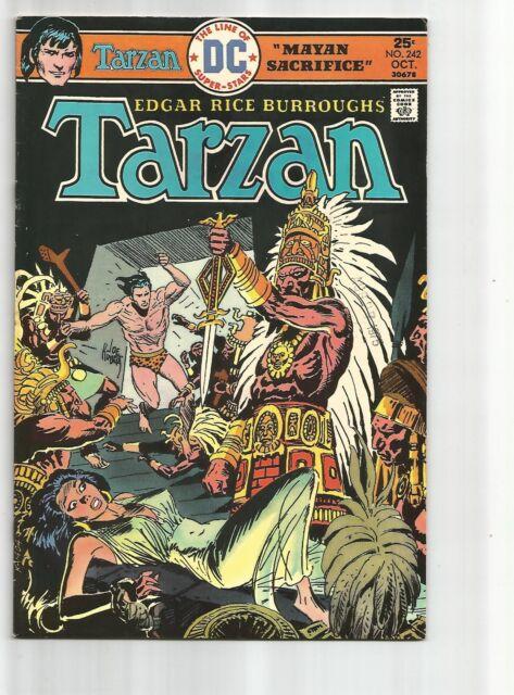 TARZAN #242 FN+ FINE+ WHITE PAGES BRONZE AGE 1975 DC COMICS