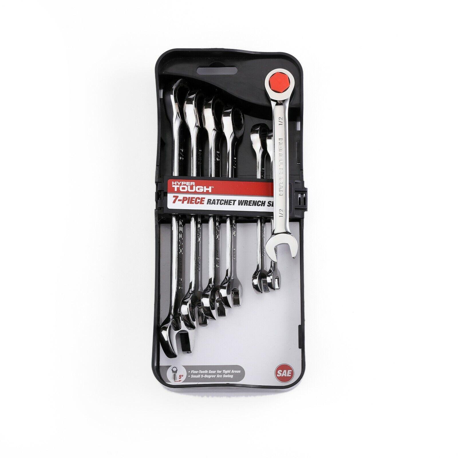 Mechanic Tools 7-Piece Metric Chrome Vanadium Ratcheting Ratchet Wrench Set