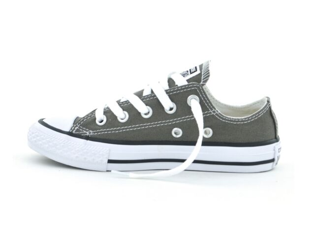 8c3bd41fda1a1c Converse Chuck Taylor All Star Ox Junior Kids Trainer Charcoal 3j794 ...