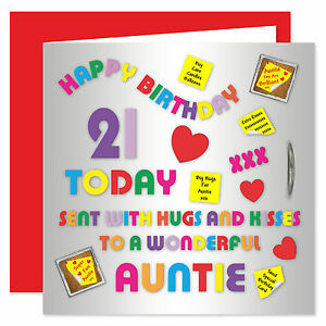 Image Is Loading Auntie Happy Birthday Card Age Range 18 60