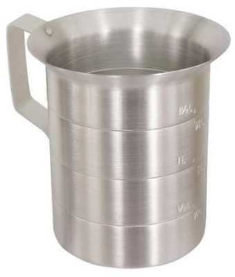 1//4 Cup Only Crestware Commercial Kitchen MEACP1//4 Crestware Stainless Steel Measure