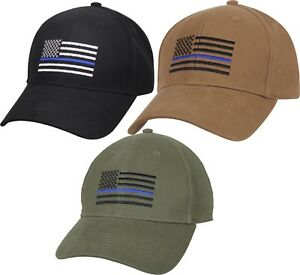 Thin-Blue-Line-US-Flag-TBL-Support-The-Police-Low-Profile-Baseball-Cap